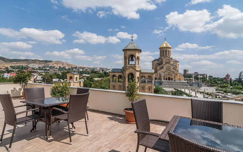 Смотровая площадка в Epic Hotel 3*, Тбилиси, Грузия