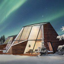 понаблюдать за полярным сиянием из стеклянных апартаментов