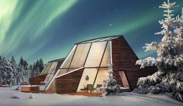 У Фінляндії пропонують поспостерігати за полярним сяйвом зі скляних будинків
