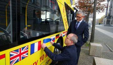 Экскурсия по Берлину на украинском языке: ищите жёлтый автобус!