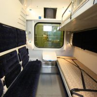 Поезд-трансформер отправился в путь по маршруту Киев - Запорожье - Киев