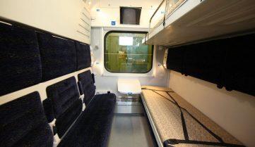 Поезд-трансформер отправился в путь по маршруту Киев — Запорожье — Киев