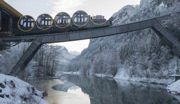 В Швейцарии между Швицем и Штоосом запустили новый сверхсовременный фуникулёр