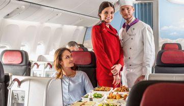 «Турецкие авиалинии» будут кормить украинских пассажиров