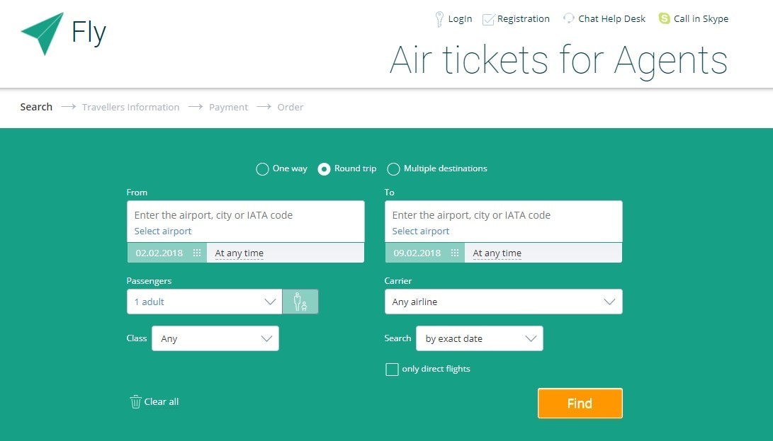 Open air ticket office in your travel agency