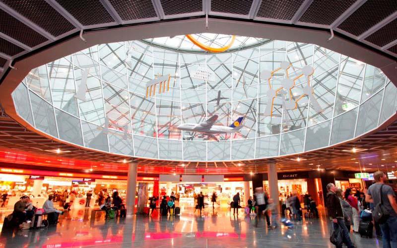 Развлечения и услуги в аэропорту Франкфурта