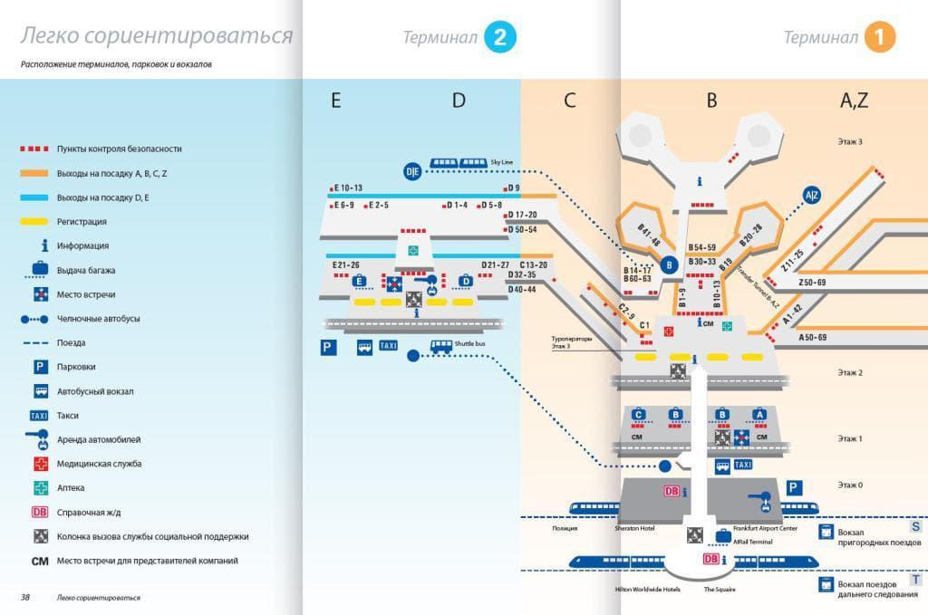 план аэропорта Франкфурт