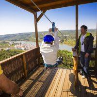 Из Испании в Португалию можно попасть по канатной дороге