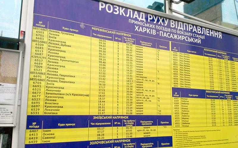 Расписание поездов ЮЖД