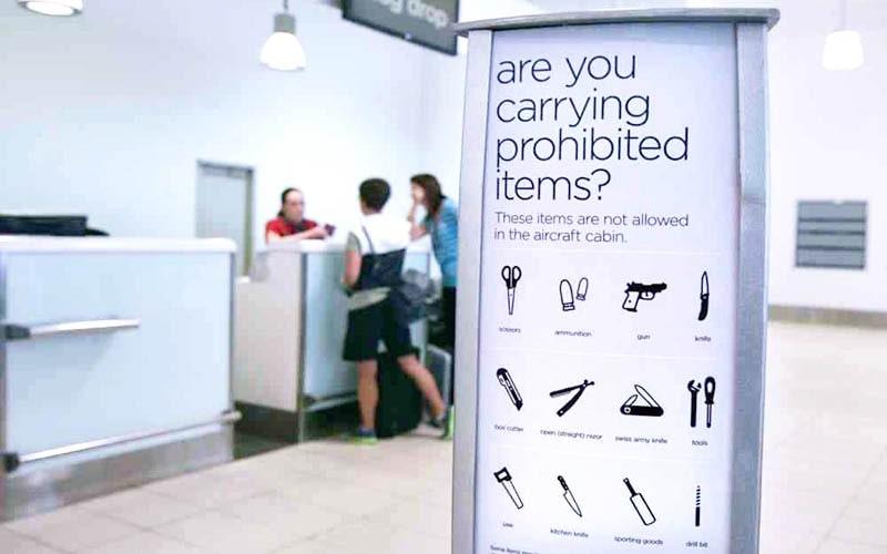 Нельзя везти ручной кладью, но можно сдать в багаж в самолёте