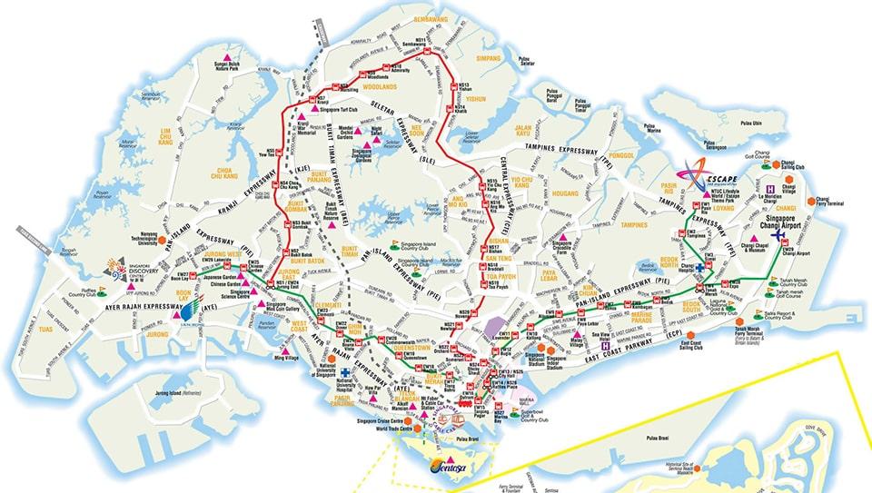 Карта Сінгапура