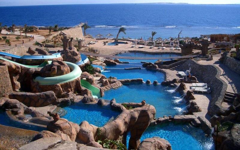 Аквапарки в отелях Египта