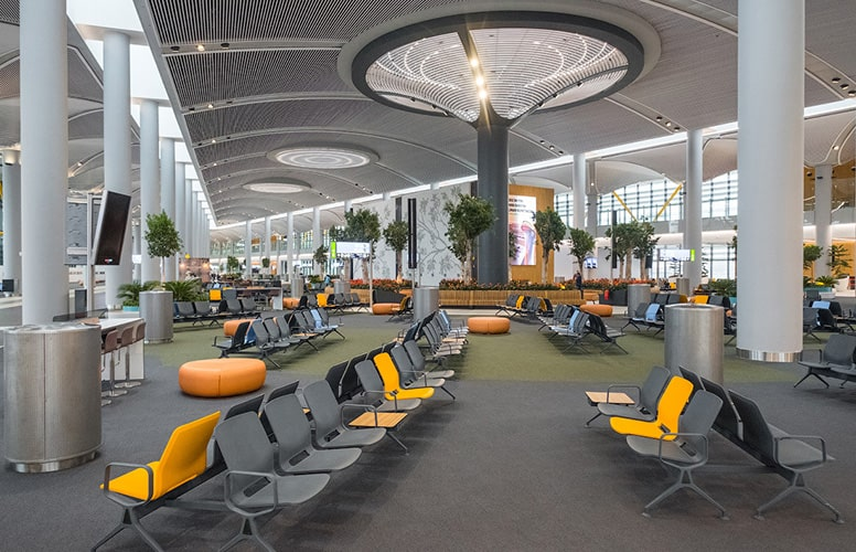 Новый аэропорт Стамбула зона ожидания