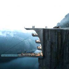 Отель внутри скалы в Норвегии