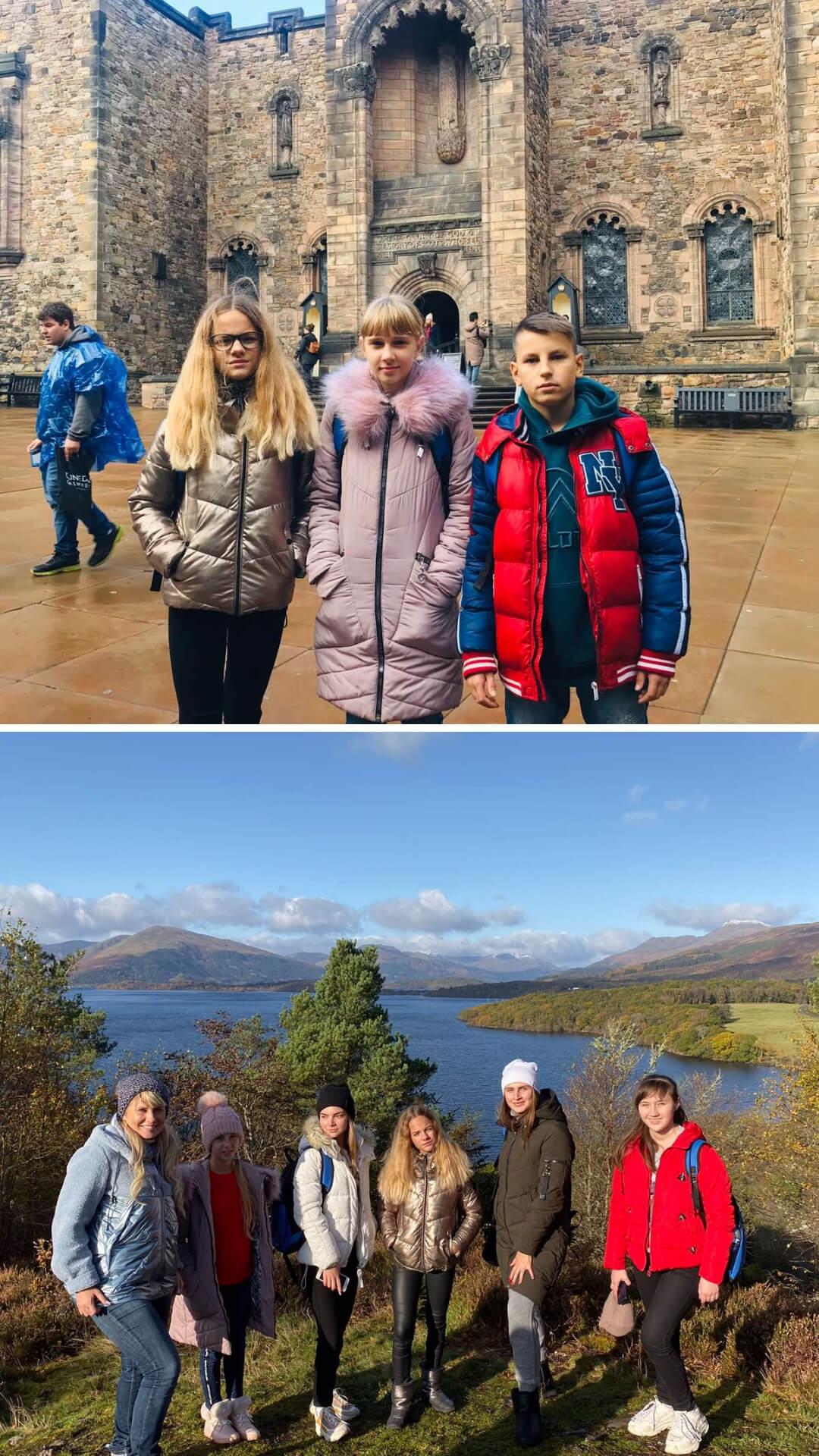 Ученики в Эдинбурге 2019 2